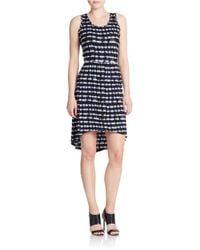 Kensie | Black Tie-dye Stripe Dress | Lyst