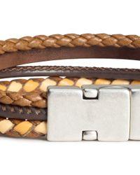 H&M - Brown Four-strand Bracelet for Men - Lyst