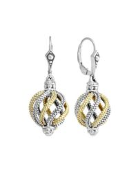 Lagos | Metallic Soiree Circular Swirl Dangle & Drop Earrings | Lyst