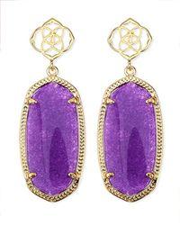 Kendra Scott - Debbie Glass Drop Earrings Purple - Lyst