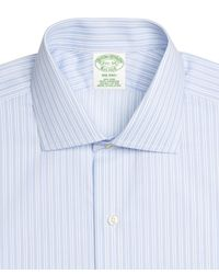Brooks Brothers - Blue Non-iron Milano Fit Stripe Dress Shirt for Men - Lyst