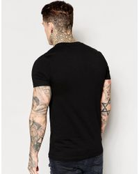 ASOS | Black Muscle T-shirt With Contrast Military Pocket With Zip for Men | Lyst