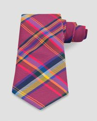Thomas Pink Pink Grinstead Check Classic Tie for men