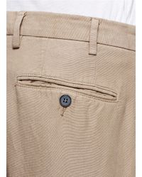 Canali Brown Cotton-Linen Chinos for men