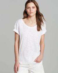 Vince White Tee Rolled Sleeve