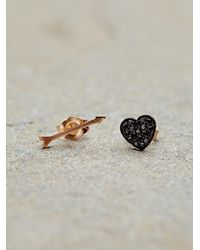 Free People - Black Heart Arrow Studs - Lyst