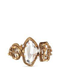 Erickson Beamon | Metallic 'heart Of Gold' Gauze Bound Crystal Bracelet | Lyst