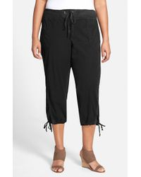 XCVI Black Xcvi Drawstring Tie Capri Pants