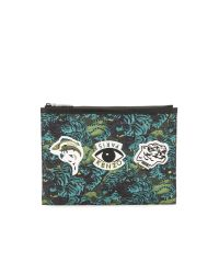 KENZO Blue Essentials Flying Tiger A4 Pouch for men