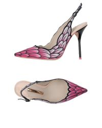 Sophia Webster | Purple Feather Faux-Leather Slingback Pumps | Lyst