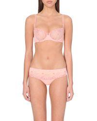 Simone Perele | Pink Delice Half-cup Lace Bra | Lyst