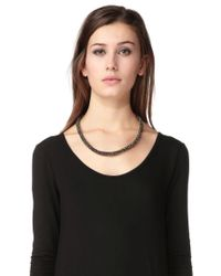Pieces - Black Necklace / Longcollar - Lyst