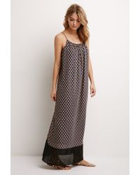 Forever 21 - Multicolor Baroque Print Maxi Dress - Lyst