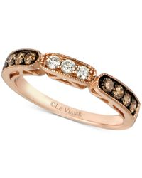 Le Vian | Metallic Chocolate And White Diamond Band In 14k Rose Gold (3/8 Ct. T.w.) | Lyst