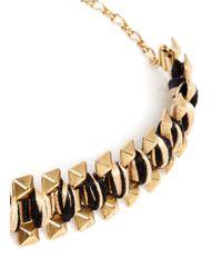 Ela Stone | Metallic Rowina Coloured Thread Stud Bracelet | Lyst