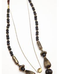 Free People - Metallic Womens Chunky Bead Pendant - Lyst