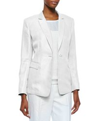 Lafayette 148 New York | White Mackenzie One-button Jacket | Lyst