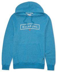 Billabong | Blue Branded Hoodie for Men | Lyst