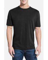 Tommy Bahama Black 'New Palm Cove' Pima Cotton Blend T-Shirt for men