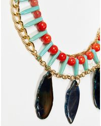 Nali - Green Turquoise Bead Pendant Necklace - Turquoise - Lyst