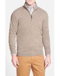 John W. Nordstrom - Brown Quarter Zip Cashmere Sweater for Men - Lyst