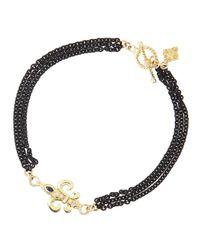 Armenta - Black Double-Sided 3-Strand Maltese Cross Bracelet - Lyst