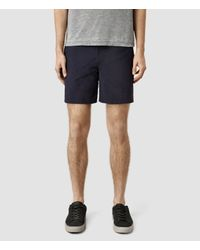 AllSaints | Blue Ward Swimshort for Men | Lyst
