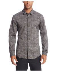 BOSS Green | Gray 'bersh' | Slim Fit, Stretch Cotton Button Down Shirt for Men | Lyst
