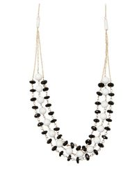 Wendy Mink - Black Onyx And White Bead Triple Strand Necklace - Lyst
