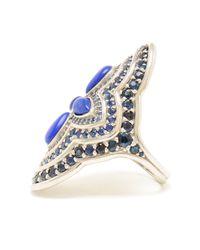 Fernando Jorge Blue White Gold Lapis and Sapphire Ocean Ring