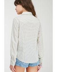 Forever 21 | Natural Dotted Western Shirt | Lyst