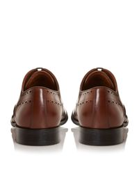 Dune | Brown Reegal Leather Wingtip Oxford Brogue for Men | Lyst