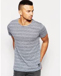 Jack & Jones - Blue Stripe T-shirt for Men - Lyst
