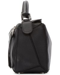 Loewe Black Leather Small Puzzle Bag
