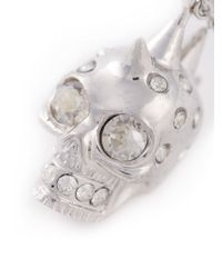 Alexander McQueen - Metallic Mohican Skull Pendant Necklace - Lyst