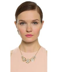 kate spade new york - Metallic Eyelet Garden Necklace - White Multi - Lyst