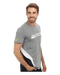 PUMA - Gray Scuderia Ferrari Tee for Men - Lyst