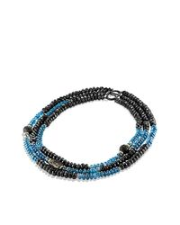David Yurman - Blue Dy Signature Bead Necklace With 18k Gold - Lyst