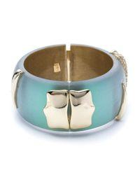 Alexis Bittar - Blue Vert D'Eau Claw Hinged Bracelet - Lyst