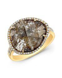 Anne Sisteron | Metallic 14kt Yellow Gold Diamond Slice Organic Ring | Lyst