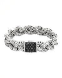John Hardy - Metallic Classic Chain Medium Braided Silver Bracelet for Men - Lyst