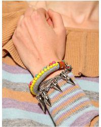 Pixie Market | Neon Yellow Beaded Bracelet | Lyst