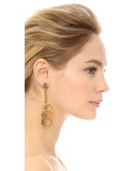 Erickson Beamon Metallic Ringtone Earrings