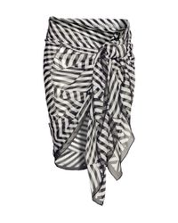 H&M Black Patterned Sarong