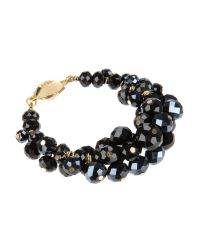 Ted Baker | Bead Cluster Bracelet - Black | Lyst