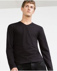 Zara | Black Superslim Top for Men | Lyst