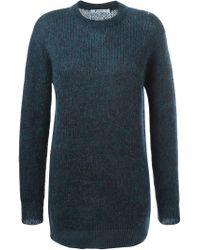 Alexander Wang - Green Crew Neck Sweater for Men - Lyst