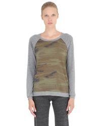 Alternative Apparel   Brown Printed Cotton Blend Jersey Sweatshirt   Lyst