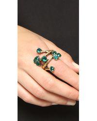 Oscar de la Renta - Green Crystal Branch Ring - Jade - Lyst