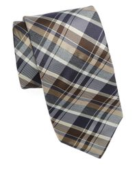 Michael Kors | Multicolor Silk Plaid Tie for Men | Lyst